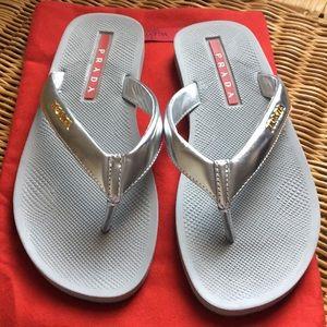 Authentic Prada Flip flop Sandals size 6.5